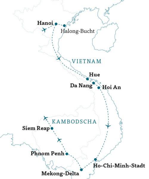 Karte Vietnam & Kambodscha